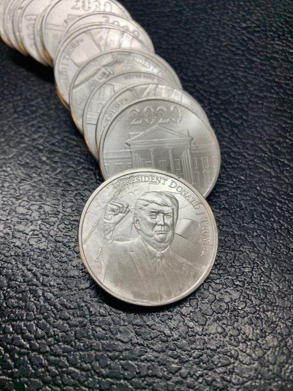 1 Ounce Pure 9999 Fine Silver 2020 Trump Maga/kaga/wwg1wga Jfkjr4vp2020 Qisreal