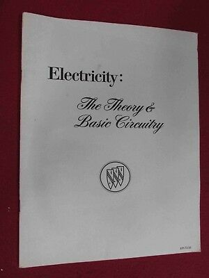 "1973-1974 Buick: ""Electricity: Theory of Basic Circuitry"" Training Manual-42pgs"