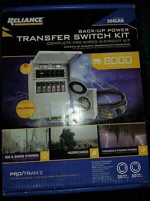 Reliance 8000-watt Generator Transfer Switch Kit 306lrk