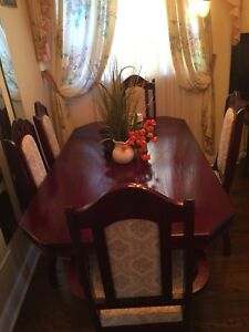 Dining table and six chairs. $400 obo