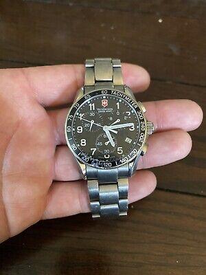 Victorinox Swiss Army Chronograph Watch Titanium Band Swiss Made SapphireCrystal