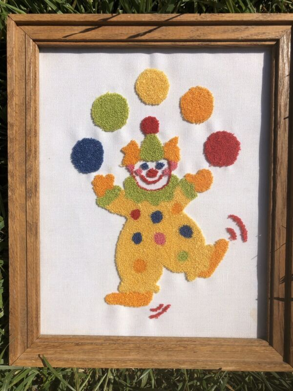 clown Punch Needle Picture