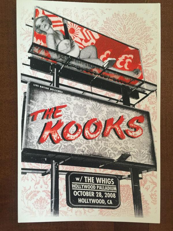 "The Kooks / The Whigs Concert Postcard - Hollywood Palladium 2008 8x6"""