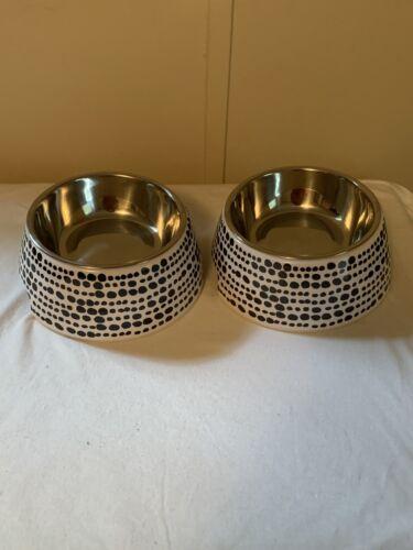 2 Boots & Barkley Dog & Cat Pet Food &Water Bowls 6.5