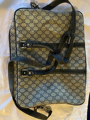 GUCCI GG Pattern Cross Body Shoulder Bag Brown PVC Leather Vintage Men /women