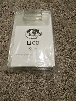 LICO office clear acrylic clipboards pk of 12  12.5