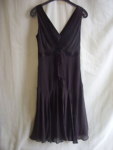 Ladies-Dress-Ted-Baker-size-2-brown-100-silk-BNWT-stunning-LOOK-2048