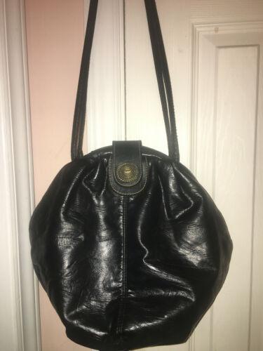 Capezio (Black/Round/Faux Leather) Purse-MEDIUM