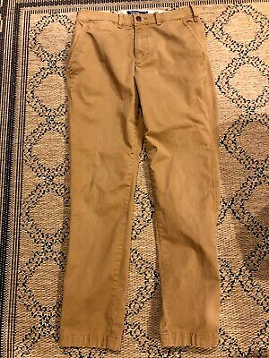 Abercrombie & Fitch Men's Chino Pants Stretch Langdon Skinny Brown Size 31/32