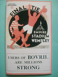 1934 FA Cup final programme,Ticket & free teamsheet Manchester City v Portsmouth