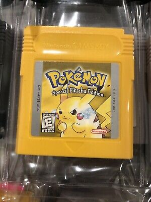 Pokemon Yellow Special Pikachu Edition Gameboy SAVES Battery Authentic Works