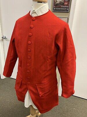 Mid-18th Century, Rev War Man's Frock Coat, RED WOOL, 40