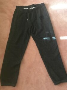 Roots salt and pepper sweatpants size L Good Condition