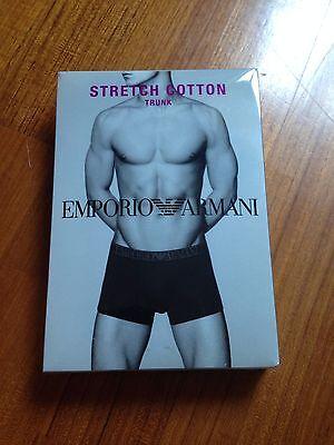 EMPORIO ARMANI Stretch cotton trunk boxer intimo uomo 46 S moda elastico...