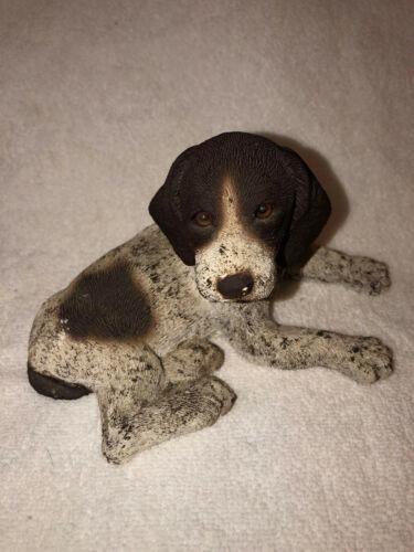 Vintage Pointer Dog Clay Statue English Pointer German Puppy Hunting Dog