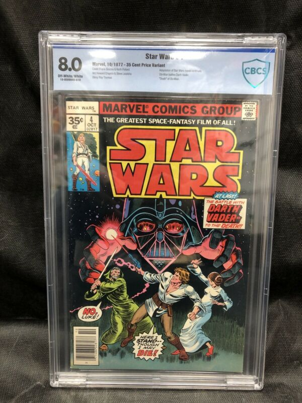 Star Wars #4 CBCS 8.0 (1977) - 35 Cent Price Variant - Very Rare High Grade