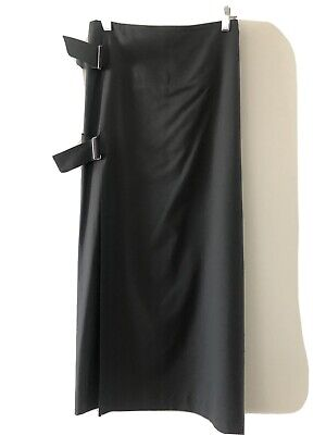 Vintage Yohji Yamamoto Gray MIDI Wrap Skirt Size L US10 + 90's Punk Bondage
