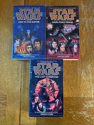 Star Wars Books x3 Heir of the Empire Dark Force Rising The Last Command