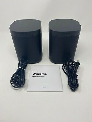 Sonos PLAY:1 2-Room Set Wireless Smart Speaker Pair - Black