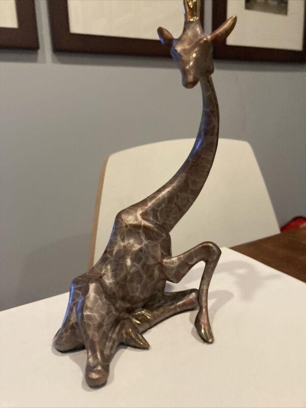 Icarus Bronze Giraffe Resting Sculpture No. 753/1200