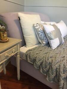 Suede Double Bed Sleigh Style Leppington Camden Area Preview