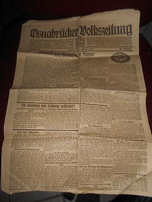 Osnabrücker Volkszeitung 5. Februar 1923 Einbruch der Franzosen in Baden