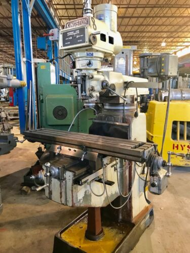 "Kingston Vertical Milling Machine, New 2000, 10""x50"" Table, 40 Taper, Dro, Pf"