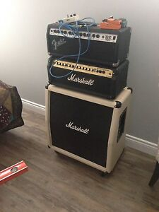 Marshall + fender heads &a Marshall cab