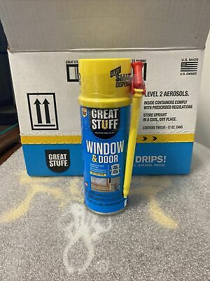 12 Cans Dow Great Stuff Window And Door Expanding Foam Sealant Insulation 12oz