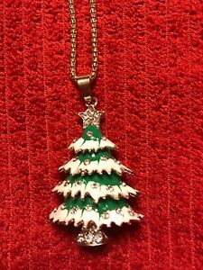 Xmas Tree Necklace by Betsey Johnson