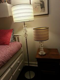 Modern Crystal and Chrome Floor and Table Lamps Crows Nest North Sydney Area Preview