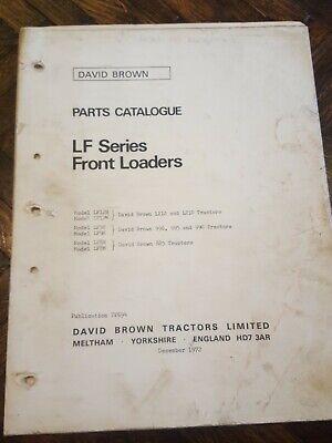 David Brown Loaders For 1212 1210 996 995 990 885 Manual Original
