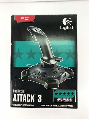 Logitech Attack 3 Joystick PC with Rapid Fire Trigger 11 Button Programmable