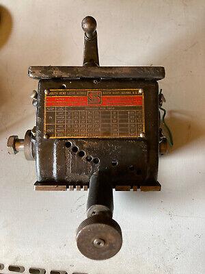 South Bend Lathe 9 Jr Model Quick Change Gear Box 1920s Original Paint