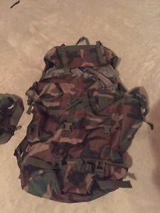 Cadets!!! Backpack, army boots and canteen
