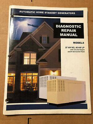 Generac 0g4548 Rev. A Standby Generators Diagnostic Repair Manual
