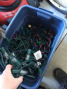 Bin full of Christmas lights most  work $10