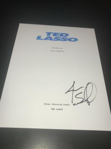 JASON SUDEIKIS SIGNED AUTOGRAPH SCRIPT TED LASSO SOCCER APPLE RARE BECKETT BAS D