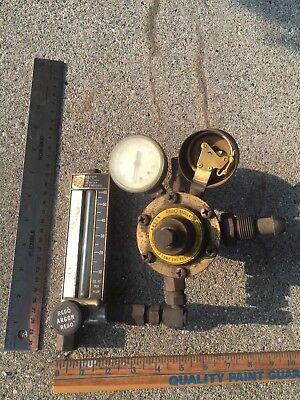 Vintage Argon Regulator Gas Valve Gauge Welding Torch Air Tool Steam Punk Item
