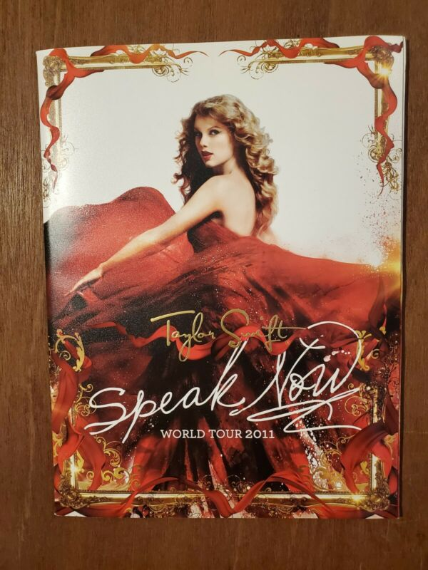 Taylor Swift Speak Now World Tour 2011 Book W/Poster *BRAND NEW* *UNCICULATED!*