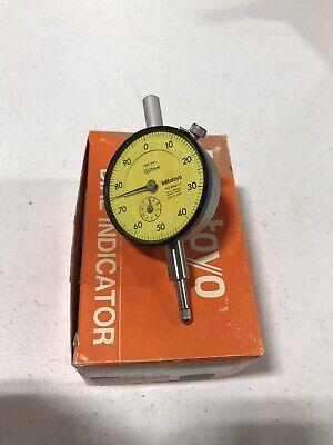 New Mitutoyo Dial Indicator 2046-11 0.01mm-10mm Test Travel Gauge Metric Bore