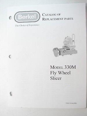 Berkel 330m Fly Wheel Slicer Catalog Of Replacement Parts Manual