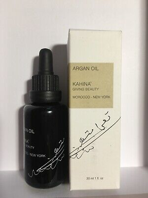 KAHINA ARGAN OIL 30ml. RRP £35 MOROCCAN CERTIFIED COLD PRESSED GIVING BEAUTY