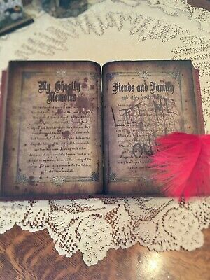 "NEW IN ORIGINAL BOX Spirit Halloween Animated 10"" Ghost Writing Book ."