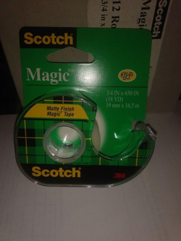 Scotch Magic Tape 3/4 Inch x 650 Inches 1 ea
