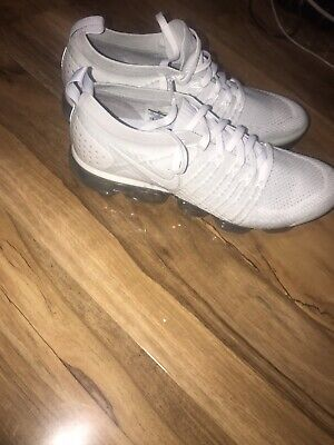 WHITE NIKE Vapourmax Fly Knit 2 Size 10 UK