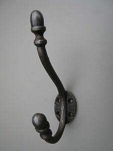 Antique Cast Iron Coat Hooks, Vintage Hat Hooks