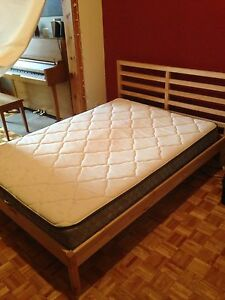 DOUBLE MATTRESS AND BED, used for less than 1 year