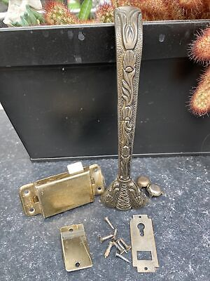 Vintage 1930s 1940s decorative wardrobe handle and latch