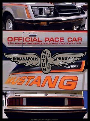 """Mustang Pace Car Fox Body High Quality Print 18""""x 24"""""""